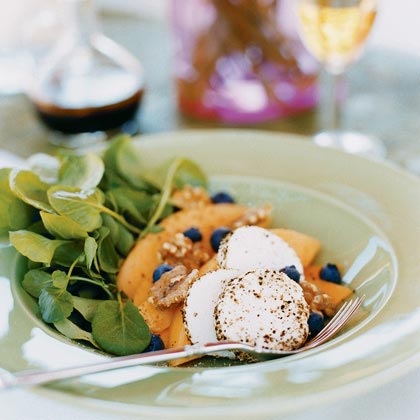 Melon and Goat Cheese Salad with Agrodolce Dressing