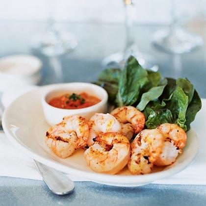 Grilled Shrimp with Romesco SauceRecipe