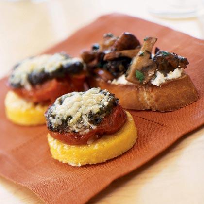 Wild Mushroom-Chèvre Crostini Recipe