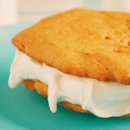 Pumpkin and Maple Ice-Cream Sandwiches