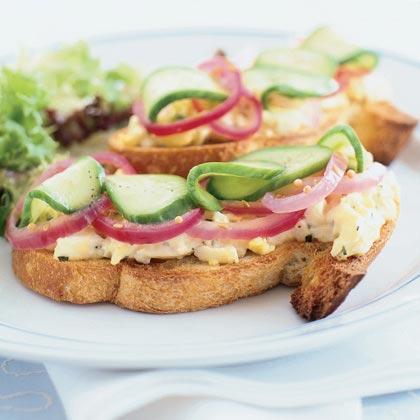 Sumptuous Egg Salad Sandwiches