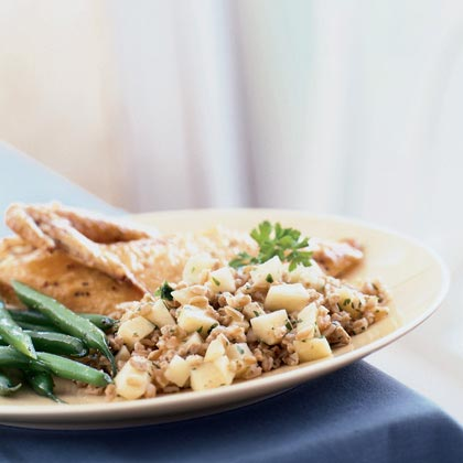 Italian Farro with Sausage and Apples