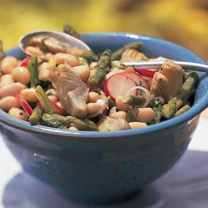 White Bean Salad with Asparagus and ArtichokesRecipe
