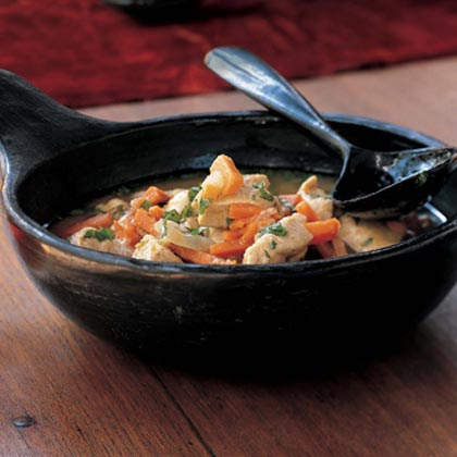 Peruvian Chicken Stew with Sweet Potatoes and Peanuts