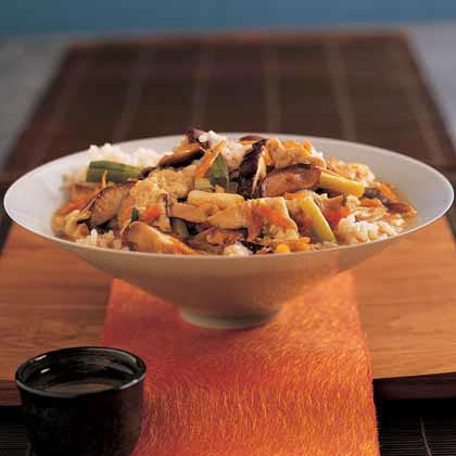Vegetable Donburi Over Seasoned Rice