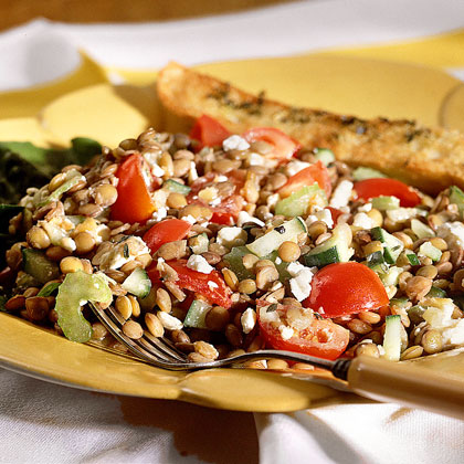 Lentil Salad with Feta Cheese Recipe | MyRecipes