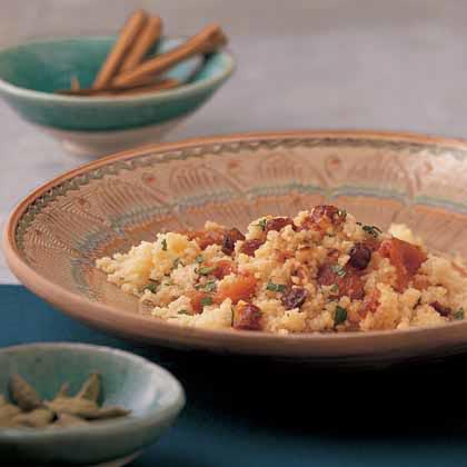 Sweet Orange Couscous with Dried Fruit Recipe