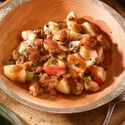 Picadillo Con Carne de Res (Potato-and-Beef Hash) Recipe