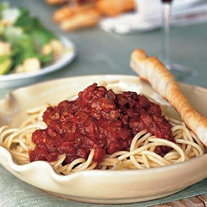 Spaghetti with Meat Sauce Recipe | MyRecipes