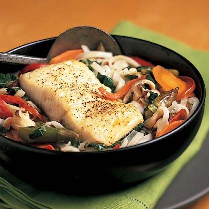 Thai Fish-and-Noodle Soup