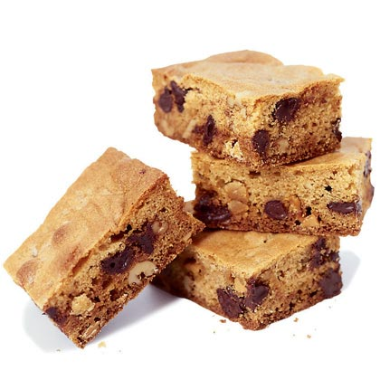 Chocolate Chip Blondies Recipe | MyRecipes.com