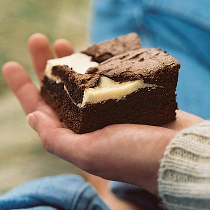 Chocolate-Fromage Blanc Brownies Recipe