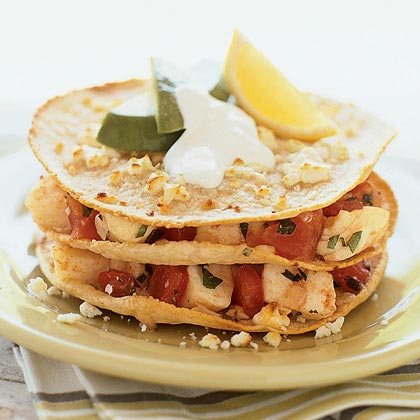 Fish Stacks with Mexican Crema Recipe