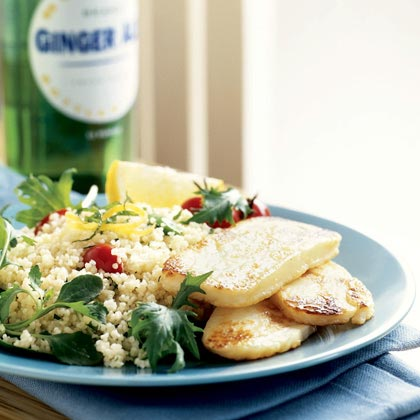 Halloumi with Couscous and GreensRecipe