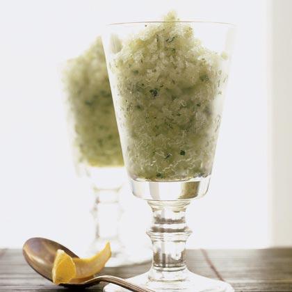 Basil-Lemon Granita