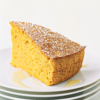 Spiced Sweet-Potato Cake with Custard Sauce