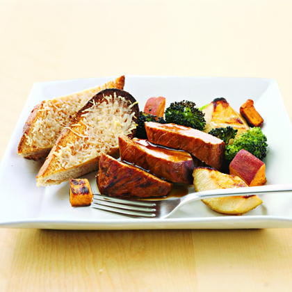 Broccoli, Sweet Potatoes, and Pears