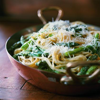 Asparagus-Goat Cheese Pasta
