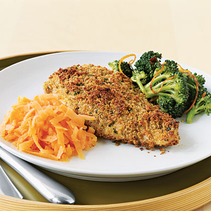 Chicken with Parmesan, Garlic, and Herb Crust Recipe