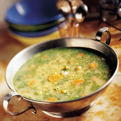 Garbanzo and Watercress Soup