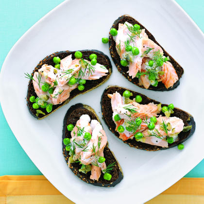 Salmon Salad with Peas and Dill