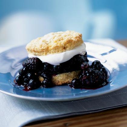 Blueberry-Blackberry ShortcakesRecipe