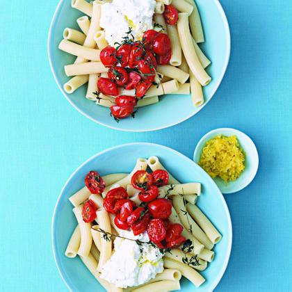 Roasted Cherry Tomato and Ricotta Pasta Salad