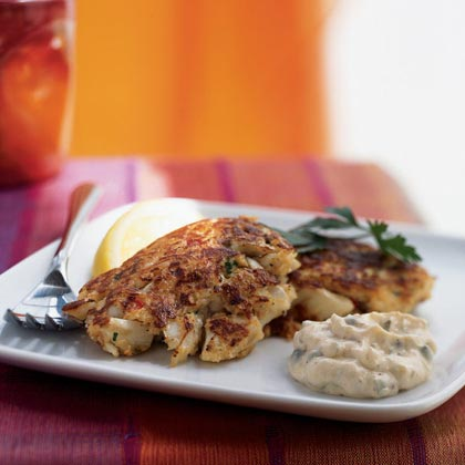 Louisiana Crab Cakes with Creole Tartar Sauce RecipeThe Maryland classic goes Creole with a double dose of spicy, vinegary hot pepper sauce in the tartar sauce and the crab cakes.