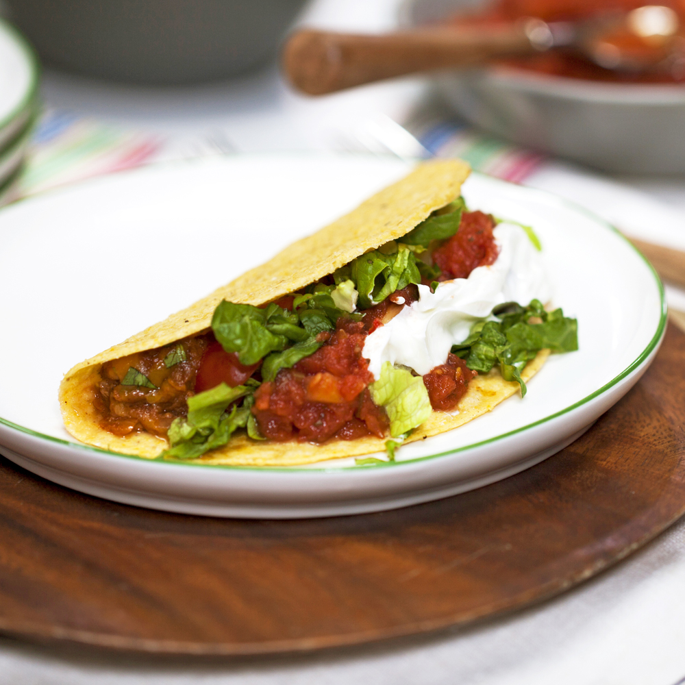 Easy Skillet Tacos are a go-to on busy weeknights. Simply prepare the beef, chop the toppings, and let everyone assemble theirs exactly the way they like.Easy Skillet Tacos                            Recipe