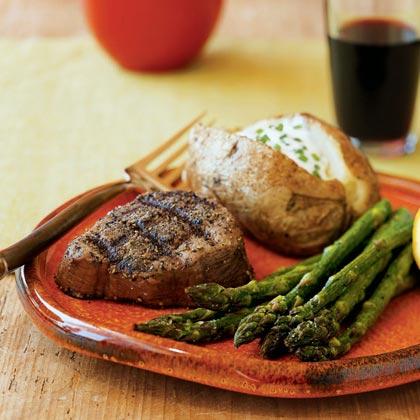 Classic steak house rubbed filet mignon recipe myrecipes forumfinder Choice Image