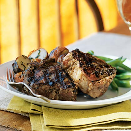 The savory coating of Dijon mustard and dried herbs also tastes great on chicken thighs or beef fillets.Herbes de Provence-Crusted Lamb Chops