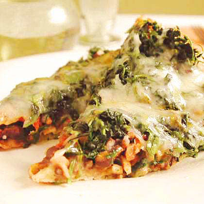 Mexican Black Bean and Spinach PizzaRecipe