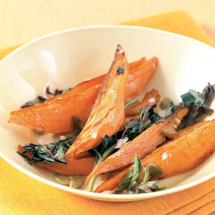 Garlic and Oregano Sweet Potato Wedges
