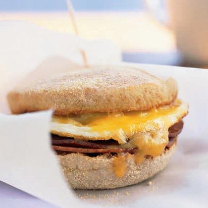Ham and Cheese Breakfast Sandwich with Mango Chutney