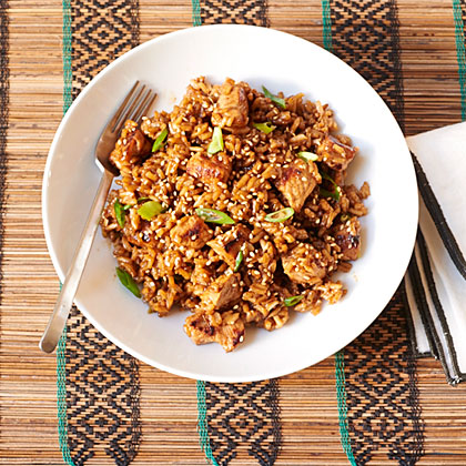 <p>Sesame Pork Rice</p>