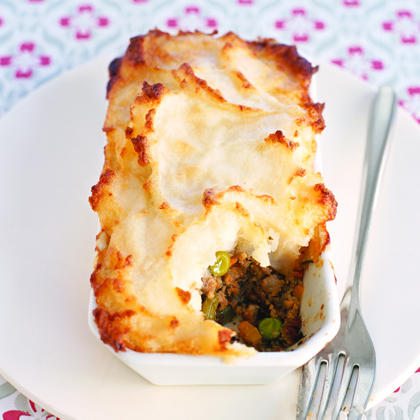 Shepherd's Pie RecipeThis economical one-dish wonder is a perfect way to use up leftovers. Leftover meatloaf or ground beef teams up with carrots, celery, peas, and canned potatoes to create a delicious, hearty dish. The entire masterpiece is topped with mashed potatoes and cooked until the top is golden brown. Enjoy with a pint of Guiness for the complete Irish experience.
