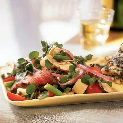 <p>Grilled Steak Salad with Caper Vinaigrette</p>