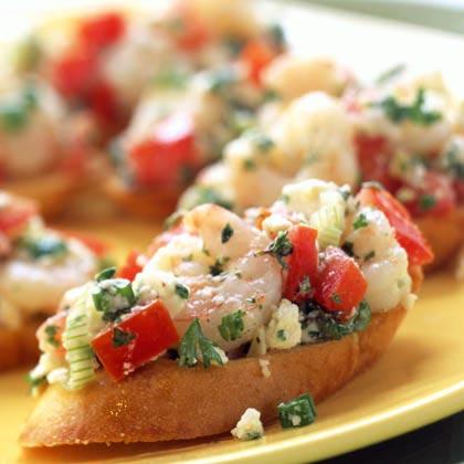 Greek Shrimp Bruschetta