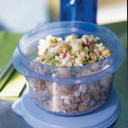 Lemon Garbanzo Salad with Feta Recipe