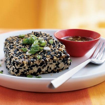 Sesame-Crusted Tuna with Wasabi-Ponzu Sauce