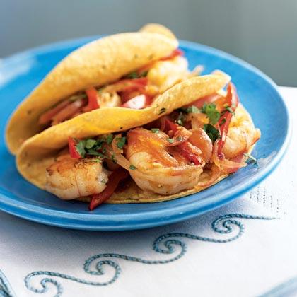 Tomatillo Shrimp Fajitas