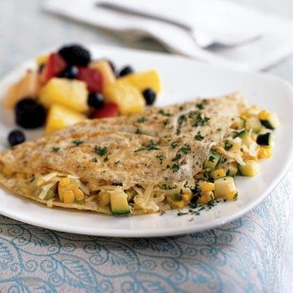 Omelete com vegetais de verão