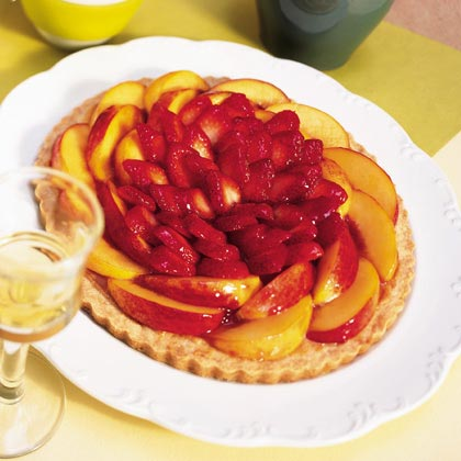 Strawberry-Nectarine Almond Tart