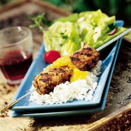 Turkey-Beef KebabsRecipe