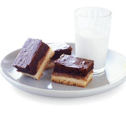 Shortbread Caramel Brownie Bars