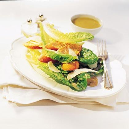 Stacked Caesar Salad with Parmesan Rafts Recipe