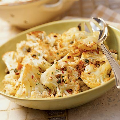 Roasted Cauliflower with Capers and Bread Crumbs