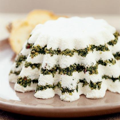 Yogurt Cheese Torta with Pesto