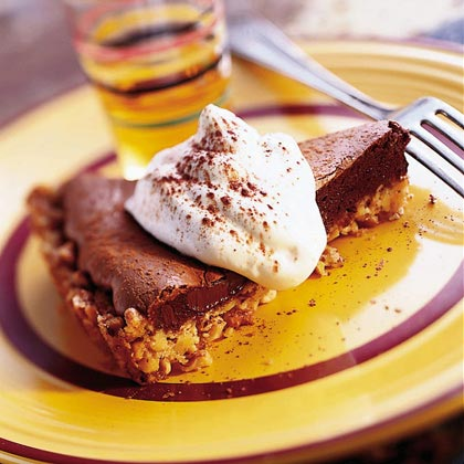 Chocolate Tart with Nut Crust Recipe