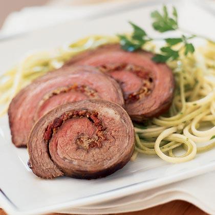 Stuffed Rolled Flank Steak Recipe